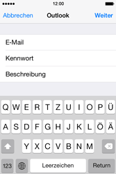 Apple iPhone 4S iOS 7 - E-Mail - 032c. Email wizard - Outlook - Schritt 8