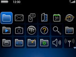 BlackBerry curve 3G - Applications - Personnaliser l