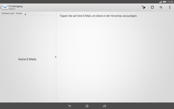 Sony Xperia Tablet Z2 LTE - E-Mail - E-Mail versenden - 0 / 0