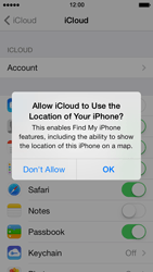 Apple iPhone 5 iOS 7 - Applications - configuring the Apple iCloud Service - Step 7