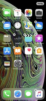 Apple iPhone XS - Startanleitung - Personalisieren der Startseite - Schritt 5