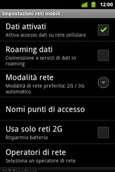 Alcatel OT-983 - Internet e roaming dati - Disattivazione del roaming dati - Fase 7