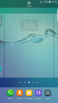 Samsung Galaxy S6 edge+ (G928F) - Getting started - Installing widgets and applications on your start screen - Step 6