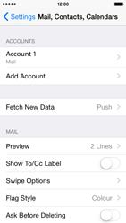 Apple iPhone 5s - iOS 8 - E-mail - Manual configuration - Step 30