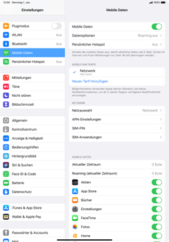 Apple iPad Pro 11 (2018) - iPadOS 13 - Internet und Datenroaming - Prüfen, ob Datenkonnektivität aktiviert ist - Schritt 5