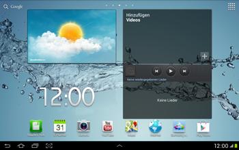 Samsung Galaxy Tab 2 10.1 - Startanleitung - Installieren von Widgets und Apps auf der Startseite - Schritt 8
