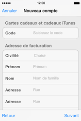 Apple iPhone 4 S iOS 7 - Applications - Créer un compte - Étape 19