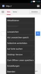 Alcatel One Touch Idol S - Internet und Datenroaming - Verwenden des Internets - Schritt 11