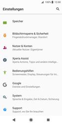 Sony Xperia XZ2 Compact - Fehlerbehebung - Handy zurücksetzen - 6 / 12