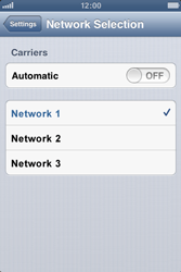 Apple iPhone 3GS - Network - Manual network selection - Step 8