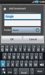 Samsung I9000 Galaxy S - Internet - Internet browsing - Step 5