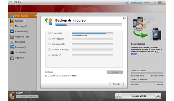 Huawei Ascend P8 - Software - Come eseguire un backup del dispositivo - Fase 7