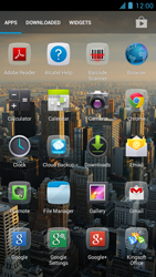 Alcatel One Touch Idol - Getting started - installing widgets and applications on your start screen - Step 3