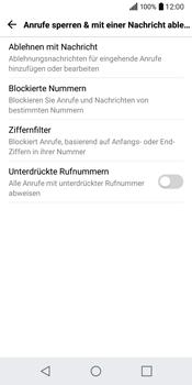 LG Q6 - Anrufe - Anrufe blockieren - 6 / 12