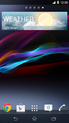 Sony Xperia Z1 - Getting started - Installing widgets and applications on your start screen - Step 7