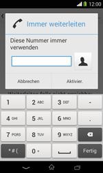 Sony Xperia E1 - Anrufe - Rufumleitungen setzen und löschen - Schritt 7