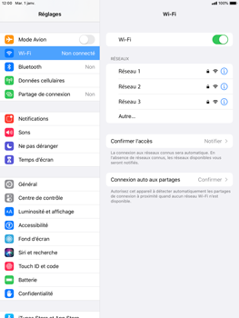 Apple iPad 9.7 (2017) - iPadOS 13 - WiFi - Configuration du WiFi - Étape 5