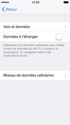 Apple iPhone 5s iOS 10 - Internet et roaming de données - Désactivation du roaming de données - Étape 6
