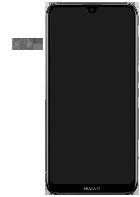 Huawei Y7 (2019) - Appareil - Insérer une carte SIM - Étape 2
