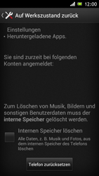 Sony Xperia J - Gerät - Zurücksetzen auf die Werkseinstellungen - Schritt 6