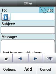 Nokia Asha 300 - E-mail - Sending emails - Step 7