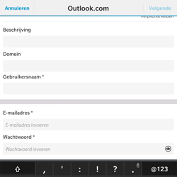 BlackBerry Passport - E-mail - Handmatig instellen - Stap 8