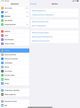 Apple iPad Pro 12.9 (1st gen) - ipados 13 - Dispositivo - Ripristino delle impostazioni originali - Fase 6
