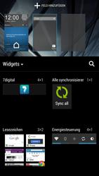HTC One - Startanleitung - Installieren von Widgets und Apps auf der Startseite - Schritt 4