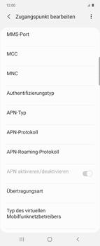 Samsung Galaxy Z flip - Internet und Datenroaming - Manuelle Konfiguration - Schritt 12