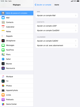Apple iPad Air 2 - iPadOS 13 - E-mail - Configuration manuelle - Étape 7