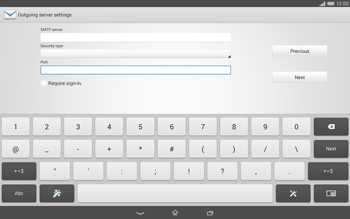 Sony Xperia Tablet Z2 LTE - E-mail - manual configuration - Step 14