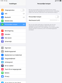 Apple iPad Pro (9.7) - iPadOS 13 - Internet - mijn data verbinding delen - Stap 4