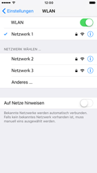 Apple iPhone 6 iOS 10 - WLAN - Manuelle Konfiguration - Schritt 7
