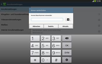 Samsung P5220 Galaxy Tab 3 10-1 LTE - Anrufe - Rufumleitungen setzen und löschen - Schritt 10