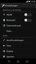 Sony Xperia L - Anrufe - Rufumleitungen setzen und löschen - 4 / 9