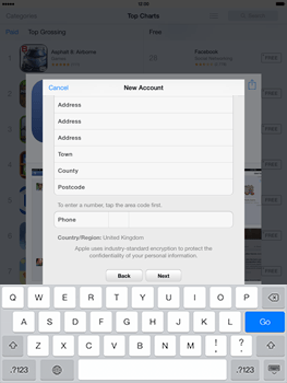 Apple iPad mini retina - Applications - setting up the application store - Step 23