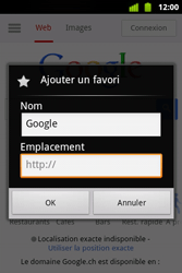 Alcatel OT-983 - Internet et roaming de données - Navigation sur Internet - Étape 8