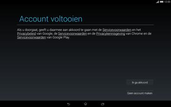 Sony Xperia Tablet Z2 4G (SGP521) - Applicaties - Account aanmaken - Stap 16