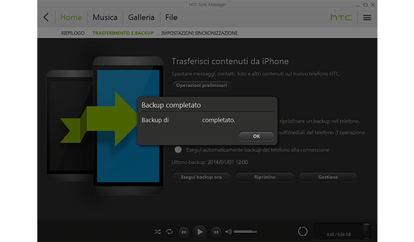 HTC One M8 - Software - Come eseguire un backup del dispositivo - Fase 7
