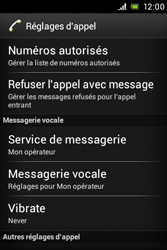Sony ST23i Xperia Miro - Messagerie vocale - configuration manuelle - Étape 6