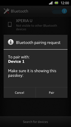 Sony Xperia U - Bluetooth - Connecting devices - Step 7