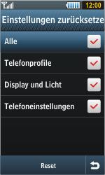 Samsung S8000 Jet - Fehlerbehebung - Handy zurücksetzen - Schritt 8