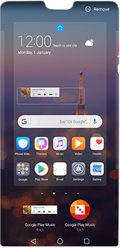 Huawei P20 Pro - Getting started - Installing widgets and applications on your start screen - Step 8