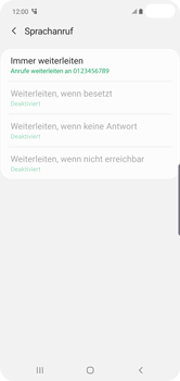 Samsung Galaxy S10 Plus - Anrufe - Rufumleitungen setzen und löschen - 14 / 15