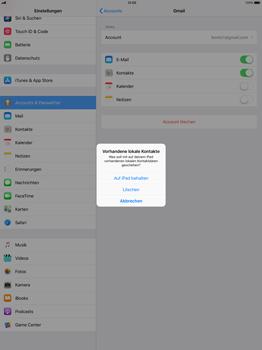 Apple iPad Pro 12.9 inch - Kontakte - Sicherheitskopie des Geräts mit OS-Konto erstellen - 1 / 1