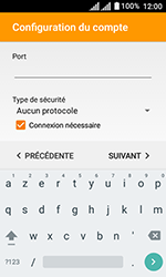 Alcatel U3 - E-mails - Ajouter ou modifier un compte e-mail - Étape 17