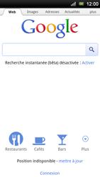 Sony Xperia Ray - Internet - Navigation sur Internet - Étape 4