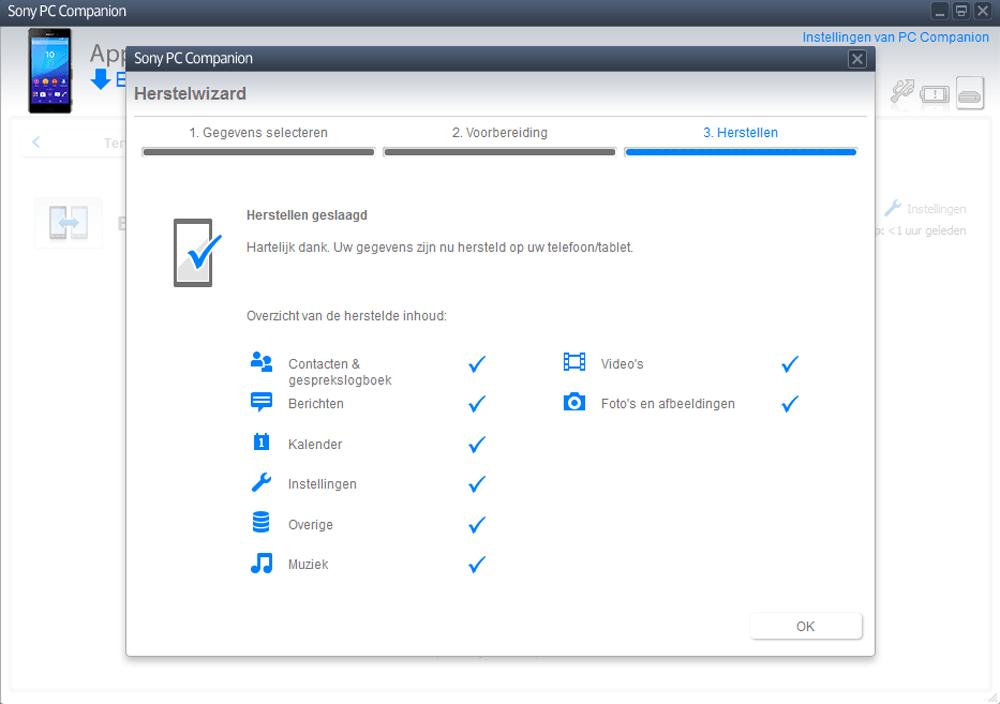 Sony E2303 Xperia M4 Aqua - Software - Backup maken van je toestel - Stap 14