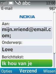 Nokia C2-01 - e-mail - hoe te versturen - stap 10