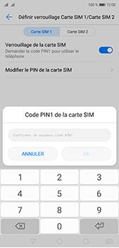 Huawei P20 pro - Sécuriser votre mobile - Personnaliser le code PIN de votre carte SIM - Étape 12
